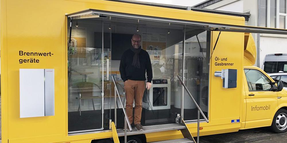Info-Mobil der Firma Weishaupt kommt nach Heinsberg